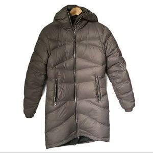 Basin + Range Down Knee Length Puffy Coat Small